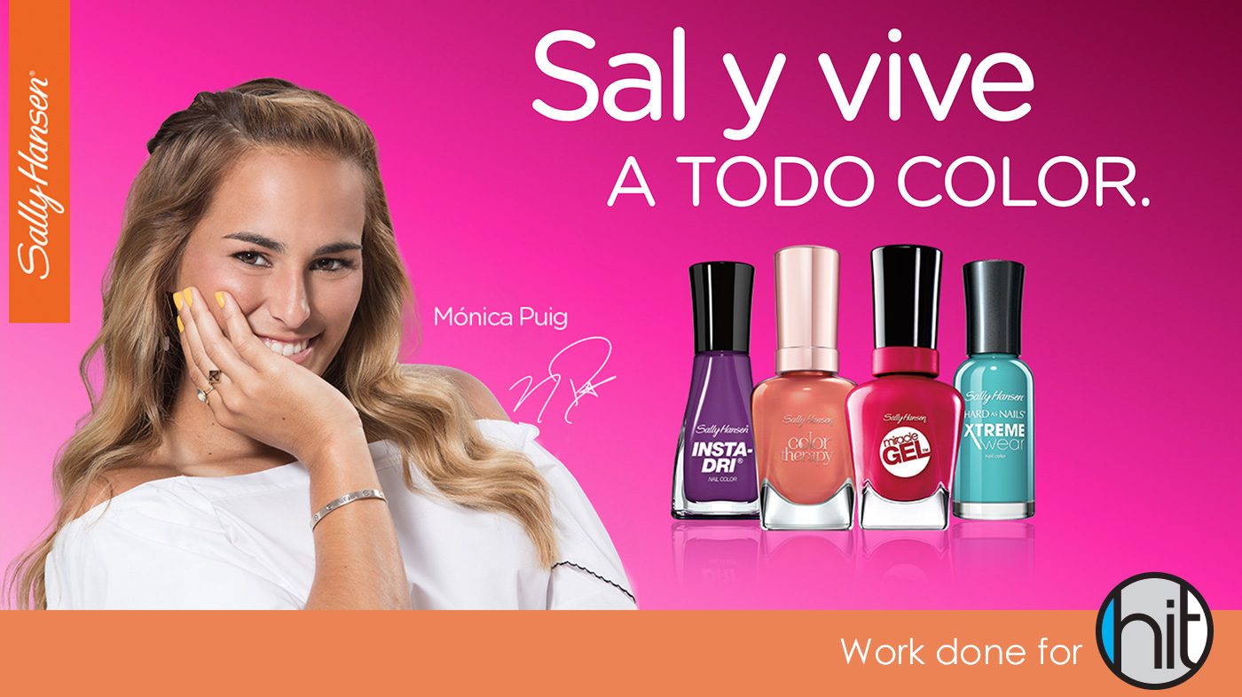 Sally Hansen Puerto Rico with Monica Puig