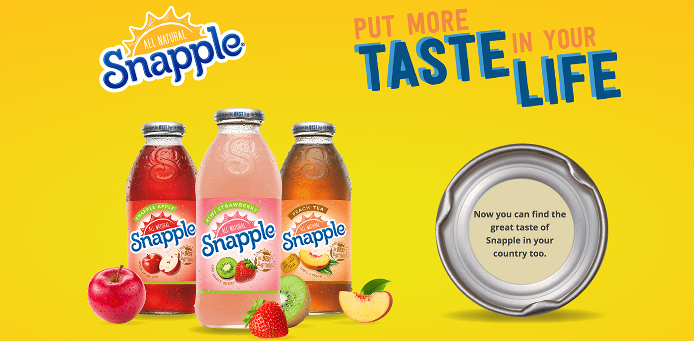 Snapple Asia Website